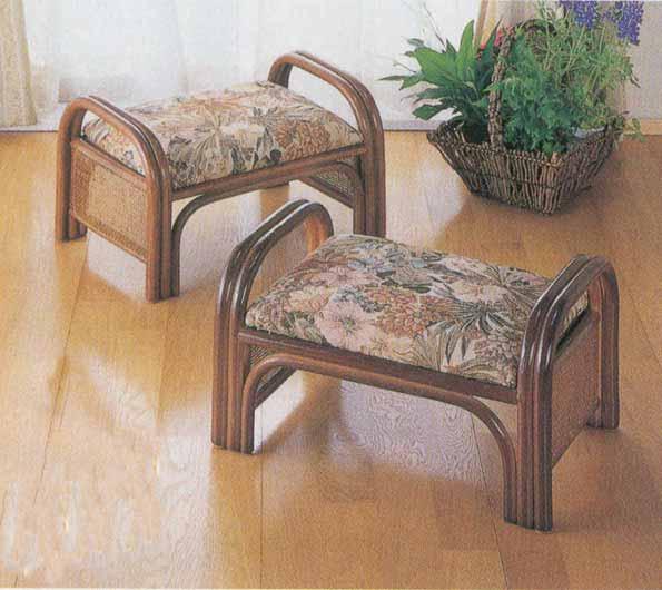 籐らくらく座椅子2個セット ロータイプ ラタン 籐家具 アジアンテイスト