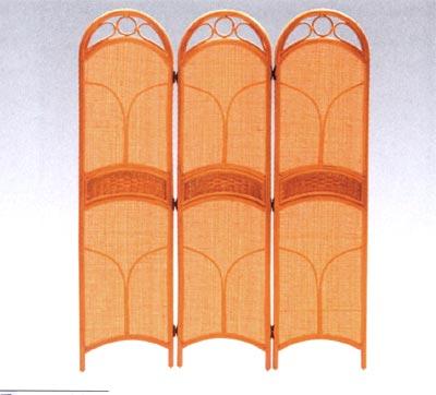 籐デラック ス スクリーン(衝立・3連タイプ) 籐家具 アジアンテイスト