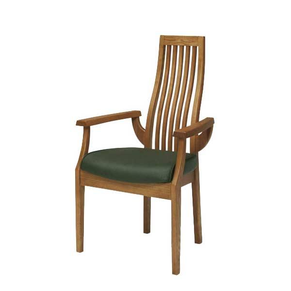 ダイニング チェア(肘付き) アームチェア 食卓チェア 椅子 チェアー タモ無垢材 北欧家具 モダンデザイン 送料無料