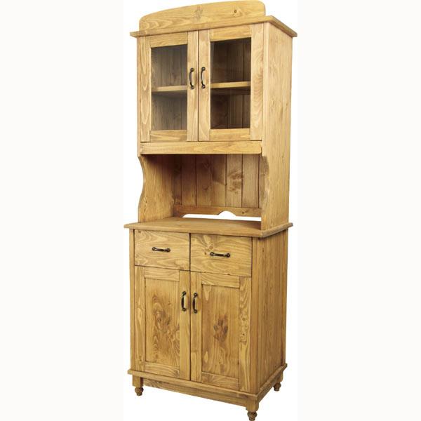 カントリーパインムク材 オイル仕上げ 食器棚 食器棚 カップボード m006- 【限界価格】【QSM-220】【2D】