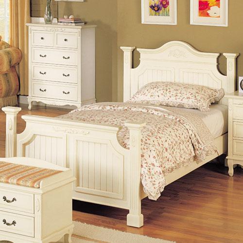 白いカントリー シングルベッド  S輸入家具 ベッド ベット BED