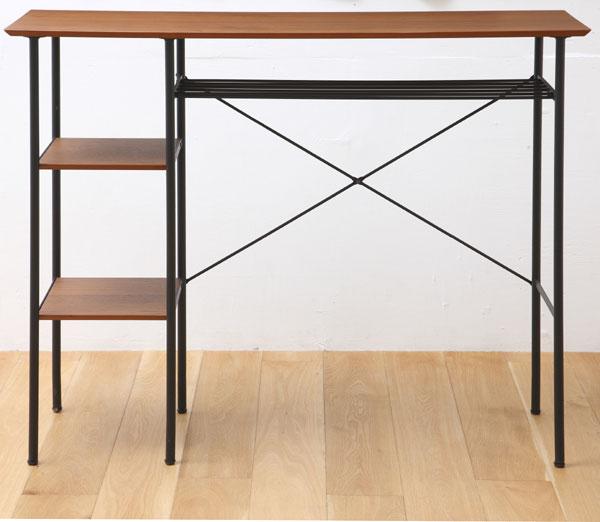 カウンターテーブル 机 バーテーブル 幅120cm 天然木 ウォールナット 【P10】 t002-m048-atm-ktb 【メーカー直送】【QSM-180】【JG】