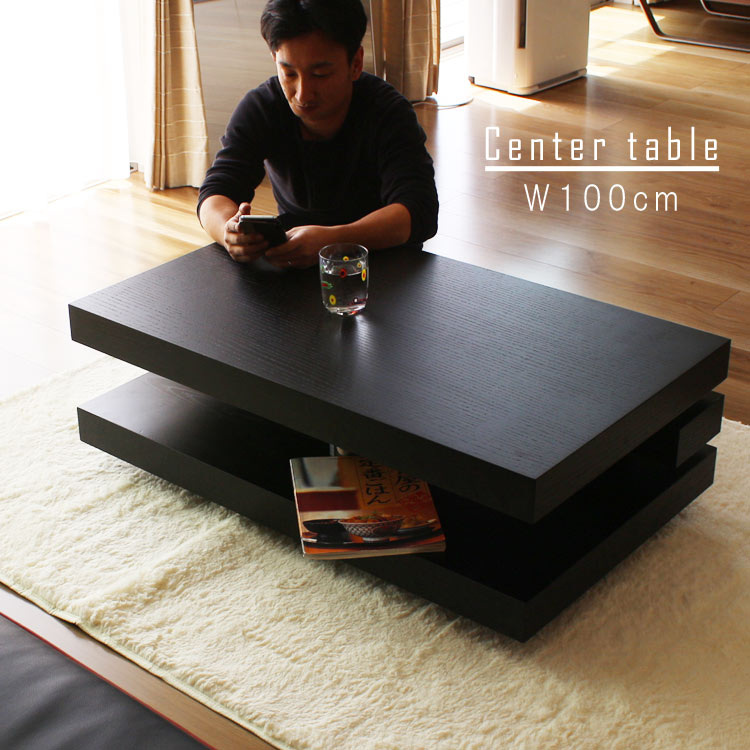 リビングテーブル 幅100cm ロータイプ 格子デザイン オーク テーブル センターテーブル ローテーブル 北欧テイスト GMK【QSM-240】【2D】