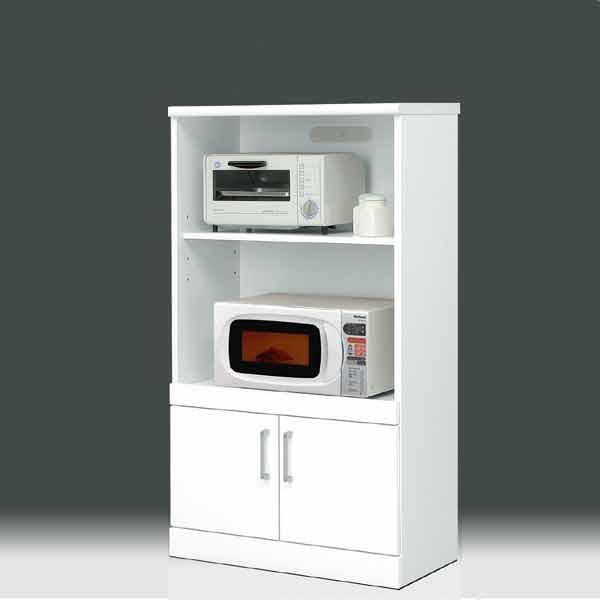レンジ台 白家具 70幅  鏡面仕上げ【日本製 一本立ち完成品】   レンジ収納 キッチン収納 PR2 ws ホワイト 木製 レンジボード aic-cristal70ml GMK-hako