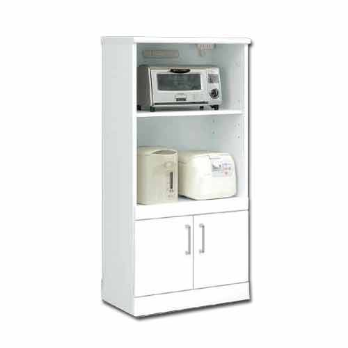 レンジ台 白家具 60幅  鏡面仕上げ 日本製 完成品   レンジ収納 キッチン収納 PR2 ws ホワイト 木製 レンジボード m004-csl-mr60 GMK-hako【QSM-260】【2D】