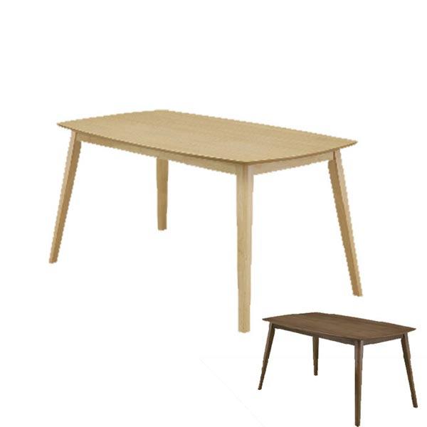 ダイニングテーブルのみ 幅135cm オーク ウォールナット ブラウン ナチュラル ミッドセンチュリー 北欧テイスト シンプル ダイニングテーブル ダイニング 食卓 テーブル【QSM-260】  t001-