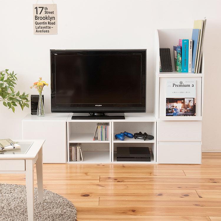 テレビ台 幅144cm キューブボックス6個セット 組立式 ベトナム製 ローボード テレビボード リビングボード TVボード TVローボード テレビローボード TV台 AVボード【限界価格】