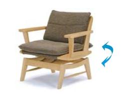 ダイニングチェアー 幅77cm アームチェア 回転チェアー 肘付きチェア イス 椅子 いす 送料無料 t003-m056-myb-kch【QSM-220】【5D】