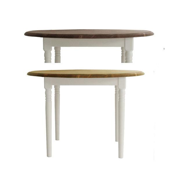 フレンチカントリー 105幅 丸ダイニングテーブル パイン無垢材 オイル仕上げ  健康家具マム フィンネルフレンチスタイル  mam fennel
