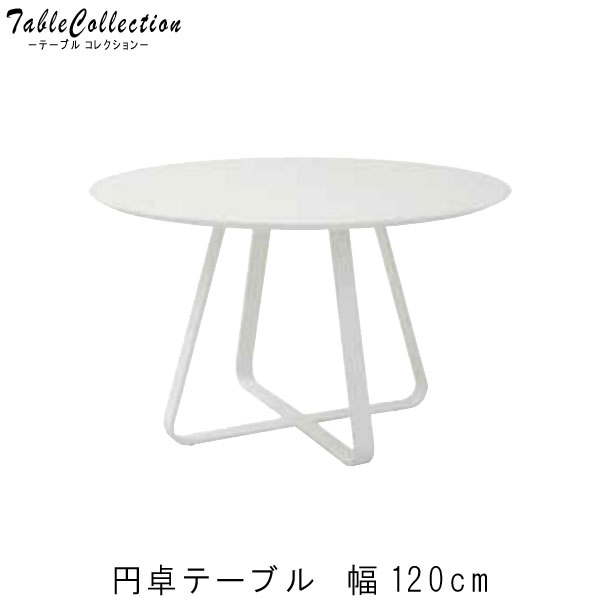 食卓テーブル ダイニングテーブル のみ 幅120cm 円卓 円形 ホワイト 白い 白家具 食卓テーブル ダイニングテーブル ダイニング 食卓テーブル テーブル 北欧 アジアン スタイリッシュ シンプル t003-m059-221940 【QOG-30K】【2D】