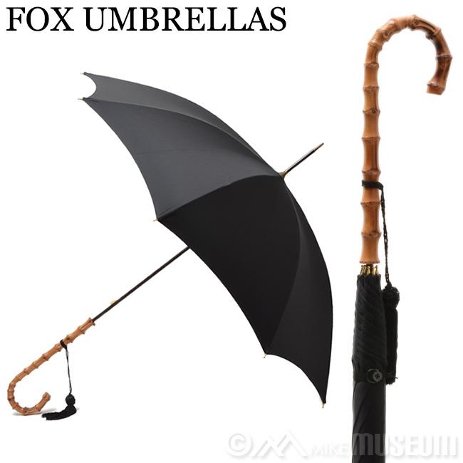 フォックスアンブレラ FOX UMBRELLAS レディース 傘 雨具 長傘 WL4/Black 099 ワンギーケーンクルックハンドル 竹【送料無料】