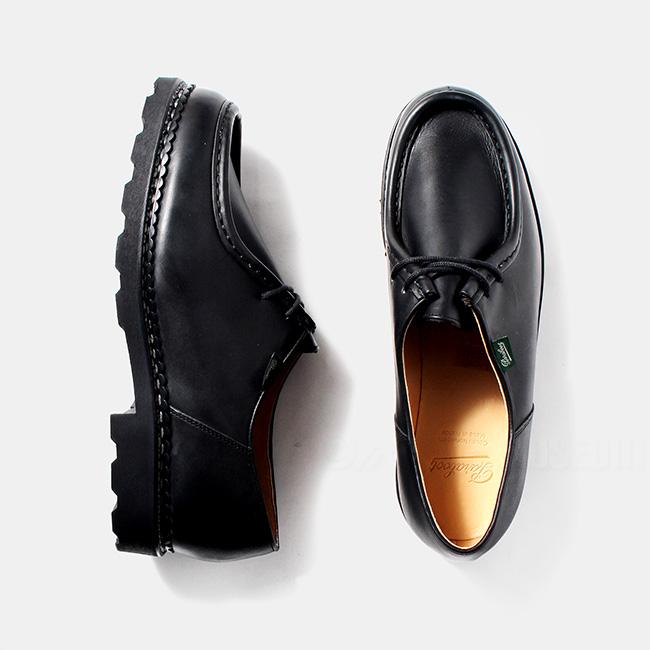 パラブーツ Paraboot ミカエル MICHAEL チロリアン レザーシューズ 革靴 ノワール Lisse Noir ブラック BLACK 715604【送料無料】