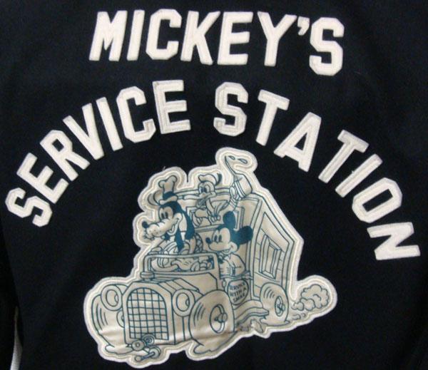 【REAL McCOY'S JAPAN】『MICKEY'S SERVICE STATION』  ヴィンテージ ブルゾン・ジャケット CARTOON TRAIL / ORANGE COUNTYザ・リアル マッコイズ リアルマッコイズ ディズニー Disney