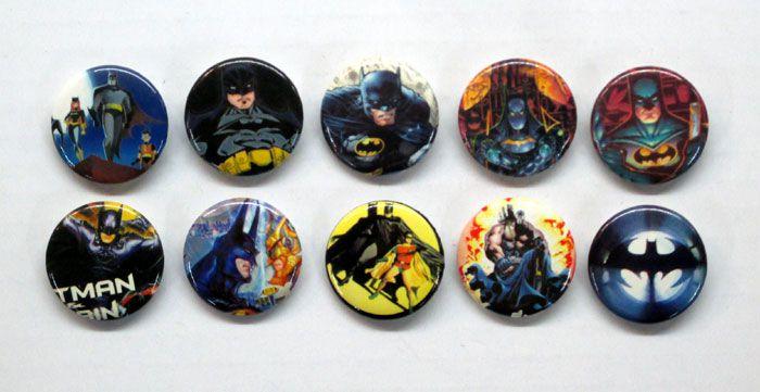 【BATMAN/バットマン】 バッジ『10種セット・A』 バッチ・DCコミックス・DC・アメキャラ・アメコミ・アメリカン雑貨・アメリカ雑貨・ジョーカー・ロビン・キャットウーマン