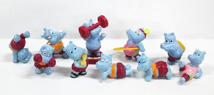 【キンダーサプライズ/Kinder Surprise】(イタリア版)『HAPPY POTAMI/A』カバ・動物・コレクション