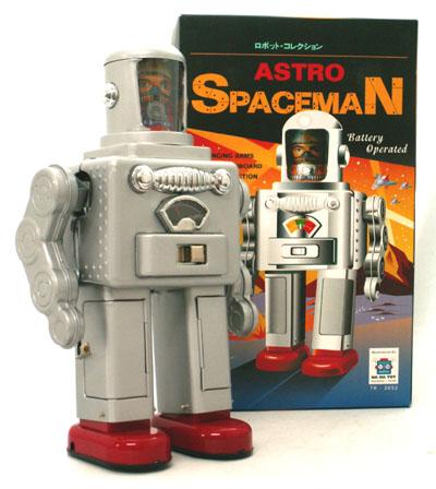 ◎【ブリキ】アストロ スペースマンAstro SpaceMan 【シルバー】 ブリキ