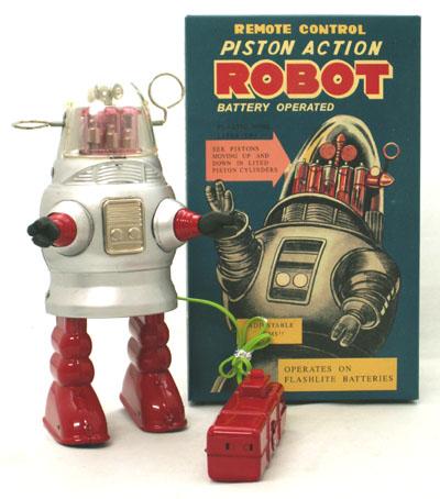 ピストンアクションロボット Piston Action Robot 【シルバー】 ブリキ