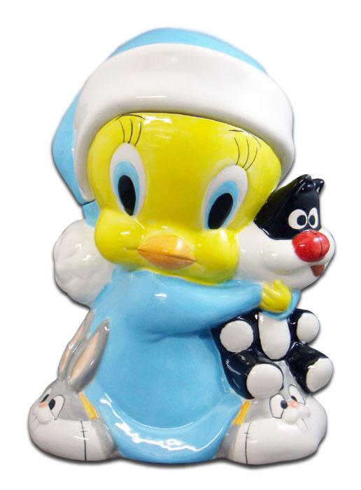 ◎【トゥイーティー Tweety】 クッキージャー 【ハグ hug】 陶器製 アメキャラ・アメコミ・アメリカン雑貨・アメリカ雑貨・アメ雑