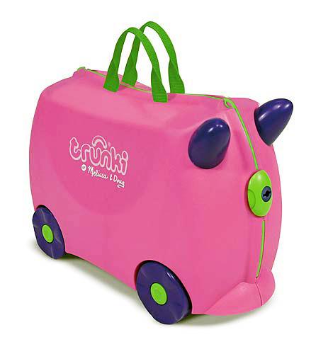 TRUNKI トランキ TRIXIE Pink(ピンク) 英国発!ポップでキュートなお子様サイズのスーツケース キャリーバック 旅行 トラベル キッズ おもちゃ箱 ファンシー かわいい