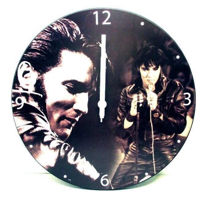 【エルヴィス・プレスリー/ ELVIS PRESLEY】壁掛け時計『モノクロ #47089』エルビスプレスリー アメリカン雑貨 インテリア アーティスト