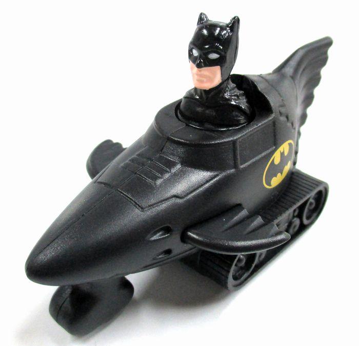 【バットマン/BATMAN】海外ハッピーミールノベルティ『Batman press and go car』 アメコミ アメキャラ アメリカン雑貨 アメリカ雑貨 フィギュア 映画