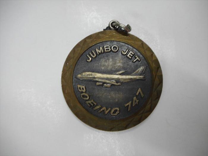 アメリカ直輸入☆彡 JUMBO JET BOEING 747 アンティーク お買得 ジャンボジェット 最安値挑戦 メダルチャームアメリカ雑貨 アメ雑