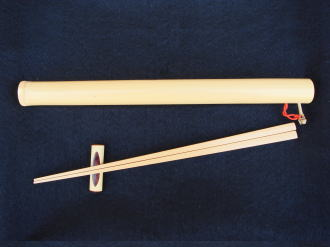 京銘竹マイ箸 筒(拭漆仕上げ 茶)