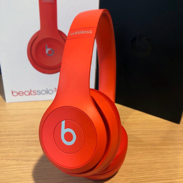 【中古品】Beats Solo3 Wireless レッド Critrus Red