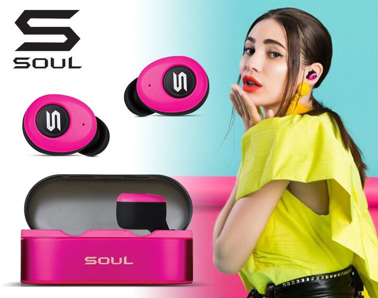 SOUL ワイヤレスイヤホン/ ST-XS ピンク (Bluetooth対応)【国内正規輸入代理店商品】【DZONE店】
