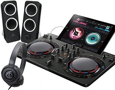 PIONEER DJコントローラーセット/DDJ-WeGO4BK + Z200BK + ATH-S100【送料無料】