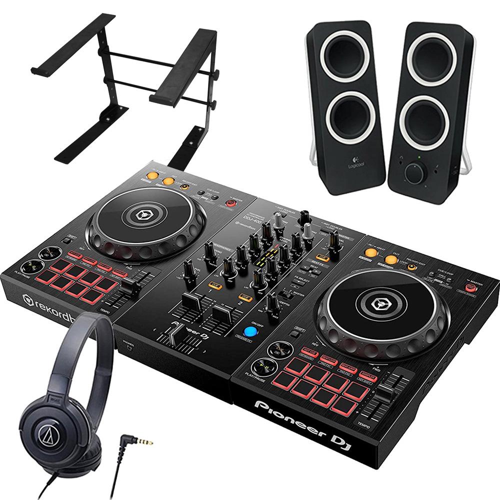 Pioneer パイオニア DJコントローラー ヘッドホン DDJ-400 + ヘッドホン rekordbox ATH-S100 + + スピーカー Z200 + スタンド LTSTAND 買い足し不要 DJスタートセット rekordbox dj対応【送料無料】, KID BLUE 公式:82343dfe --- sunward.msk.ru