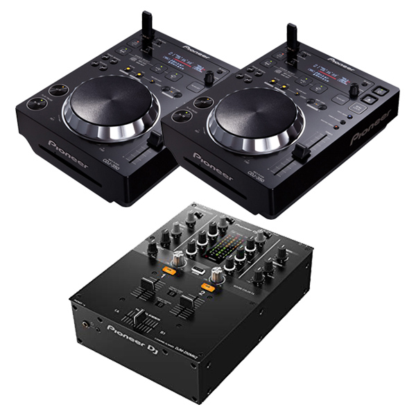 352e14204aad セット DJプレーヤー + DJミキサー rekordbox【送料無料】 PIONEER DJ CDJ-350×2 + DJセット  DJM-250MK2 serato 人気急上昇