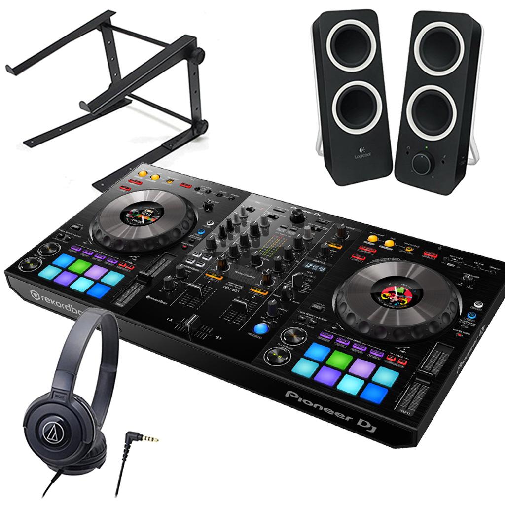PIONEER DJコントローラー DDJ-800 + ヘッドホン ATH-S100 + スピーカー Z200 + スタンド LTSTAND 買い足し不要 DJスタートセット《送料無料》