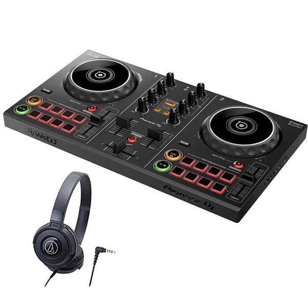 《購入特典:スマホスタンドプレゼント》PIONEER DJコントローラー DDJ-200 + ヘッドホン ATH-S100 セット 【送料無料】