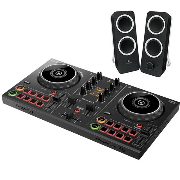 《カードポイント5倍キャンペーン(SPU分でポイントで最大7倍)》《購入特典:スマホスタンドプレゼント》PIONEER DJコントローラー DDJ-200 + スピーカー Z200 セット 【送料無料】