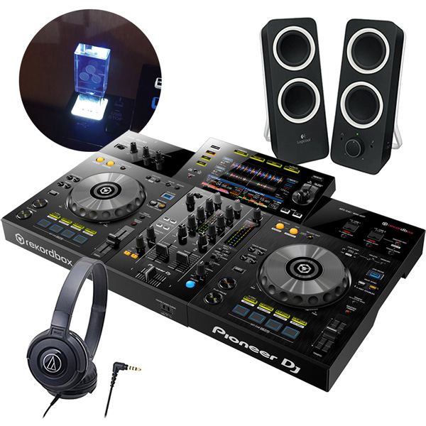 Pioneer 2chオールインワンDJシステム DJセット XDJ-RR + ヘッドホンATH-S100 + スピーカーZ200 + USBメモリー8GB《送料無料》
