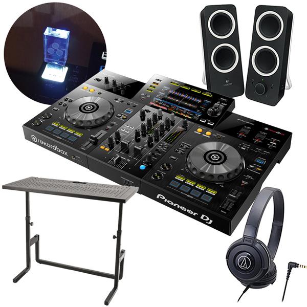 PIONEER 2chオールインワンDJシステム DJセット XDJ-RR + ヘッドホンATH-S100 + スピーカーZ200 + DJテーブル + USBメモリー8GB【送料無料】