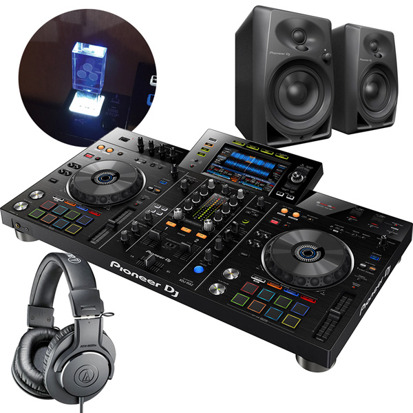 PIONEER DJセット 一体型DJシステムXDJ-RX2 + ヘッドホンATH-M20X + スピーカーDM40 + USBメモリー8GB【送料無料】
