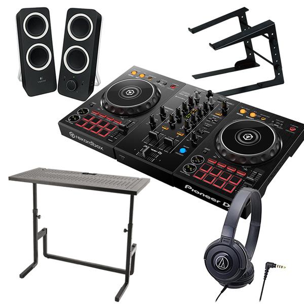 Pioneer パイオニア DJコントローラー DDJ-400 + ヘッドホン ATH-S100 + スピーカー Z200 + PCスタンド + DJテーブル 買い足し不要 DJセット rekordbox dj対応 送料無料