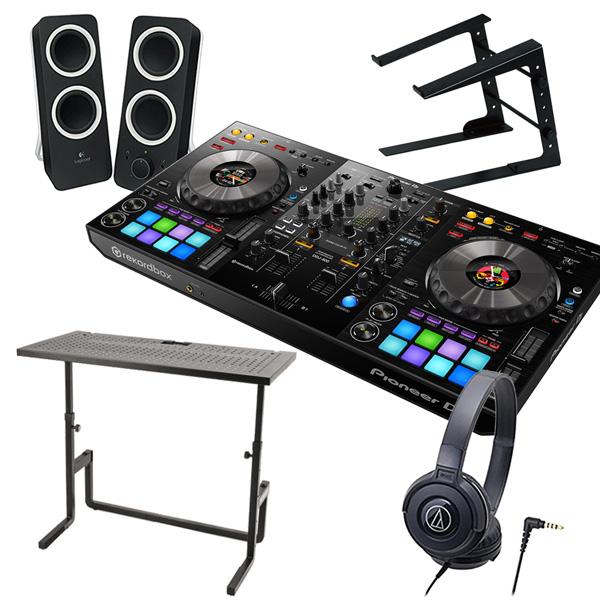 PIONEER DJコントローラー DDJ-800 + ヘッドホン ATH-S100 + スピーカー Z200 + PCスタンド + DJテーブル 買い足し不要 DJセット rekordbox dj対応《送料無料》
