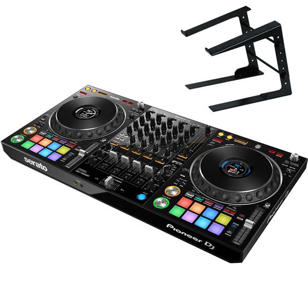 《serato DJ Suite付き》《教則動画付属》Pioneer DJ DJコントローラー DDJ-1000SRT + ラップトップスタンド セット Serato DJ Pro対応 送料無料