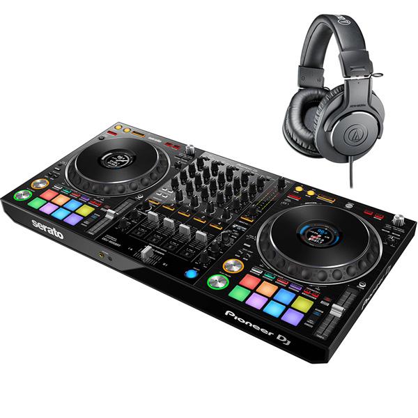 《serato DJ Suite付き》《教則動画付属》Pioneer DJ DJコントローラー DDJ-1000SRT + ヘッドホン セット Serato DJ Pro対応 送料無料