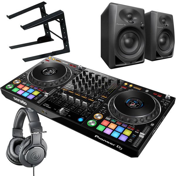 《serato DJ Suite付き》《教則動画付属》Pioneer DJ DJコントローラー DDJ-1000SRT + ヘッドホン + スピーカー + ラップトップスタンド セット Serato DJ Pro対応 送料無料