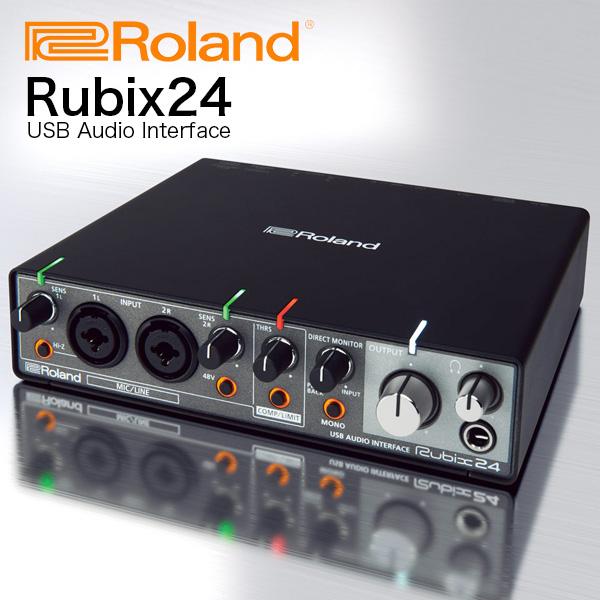 《カードポイント5倍キャンペーン(SPU分でポイントで最大7倍)》ROLAND オーディオインターフェイス Rubix24 (2in/4out) 送料無料
