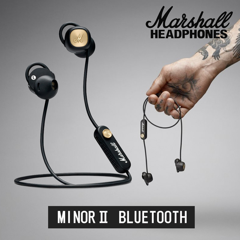 Marshall マーシャル MINOR II ワイヤレスイヤホン Bluetooth対応 12時間連続再生【国内正規品】【送料無料】