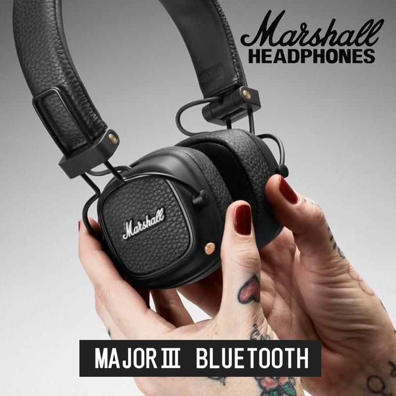 Marshall マーシャル MAJOR3 Bluetooth ワイヤレス ヘッドホン Bluetooth対応 30時間連続再生【国内正規品】【送料無料】