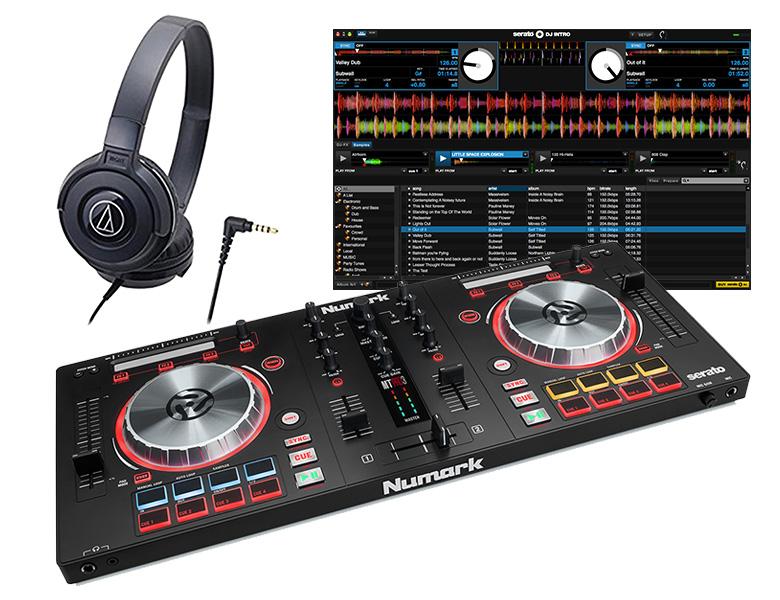 NUMARK DJセット/MIXTRACKPRO3 + ATH-100 (DJコントローラー ヘッドホン セット)【送料無料】【DZONE店】