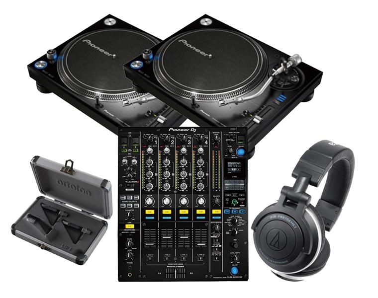 【スリップマットプレゼント】ターンテーブルDJセット/PIONEER PLX-1000 + DJM-900NXS2 + カートリッジ + ヘッドホン【送料無料】