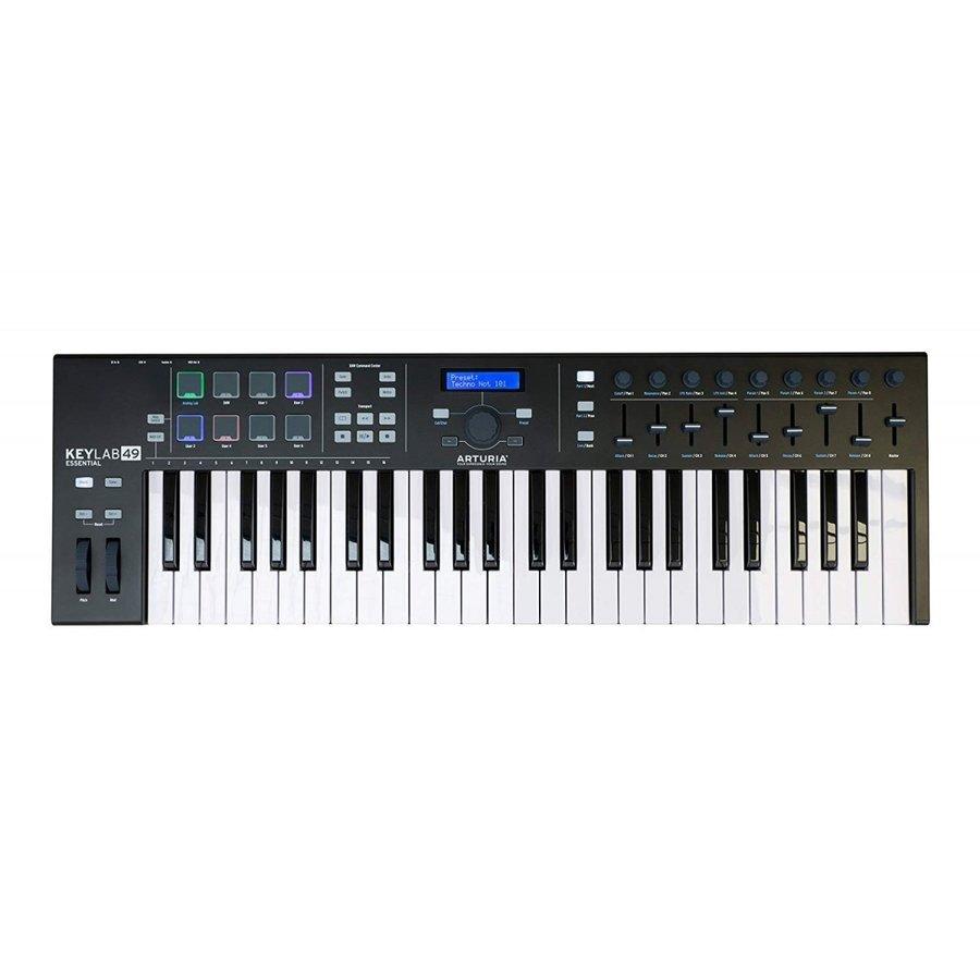 Arturia KeyLab 49 Essential BK ブラック 数量限定特価 送料無料 MIDIキーボードコントローラー