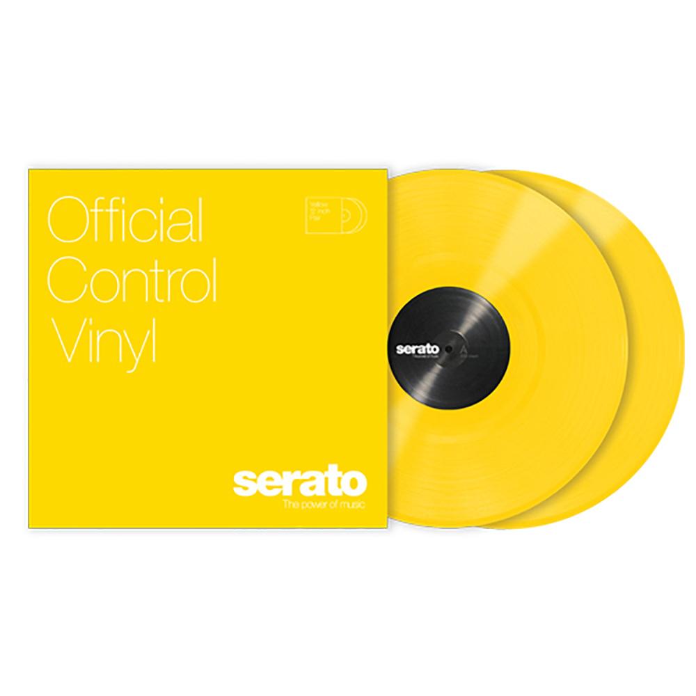 Serato 公式 DJ Pro DVS用 コントロールバイナル Viny イエロー Yellow メーカー再生品 2枚組 Control